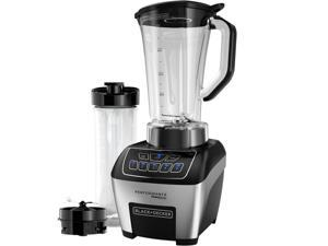 BLACK+DECKER BL6010 Performance FusionBlade Digital Control Blender with 64 oz. BPA Free Jar and 20 oz. Portable Personal Blender Jar, Stainless Steel