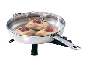 PRESTO 07300 12-inch Stainless Steel Electric Skillet