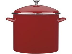 Cuisinart EOS206-33R Enamel Stockpot with Cover, 20-Quart, Red