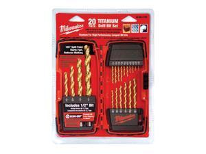 Milwaukee 48891105 20pc Titanium Drill Bit Set