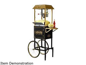 NOSTALGIA ELECTRICS CCP1000BLK Old Fashioned Movie Time Popcorn Cart