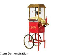NOSTALGIA ELECTRICS CCP1000RED Old Fashioned Movie Time Popcorn Cart