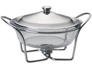 LIFETIME BRANDS 5112479 Towle Living Modernist Chrome-Plated 2-Quart Round Warmer