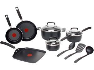 T-fal Signature Non-Stick 12-Piece Set, Black