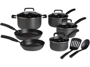 T-fal D910SC64 Signature Hard Anodized 12 Piece Set Gray