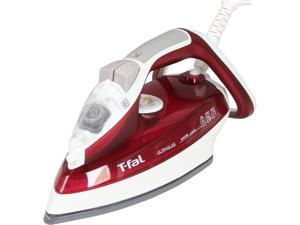 T-fal FV4446U1 Ultraglide Easycord Steam Iron with Anti-Drip and Scratch Resistant Ceramic Nonstick Soleplate, Garnet Red