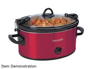 CROCK-POT SCCPVL600-R Red 6 Qt. Cook & Carry Slow Cooker