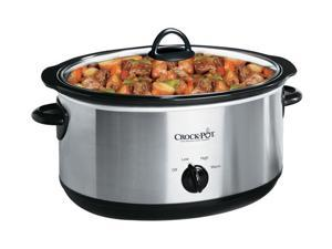 CROCK-POT SCV700-SS Stainless Steel Oval Manual Slow Cooker