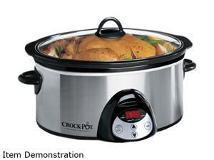 CROCK-POT SCVC651-F-CP Stainless Steel 6.5-Quart Oval Countdown Slow Cooker
