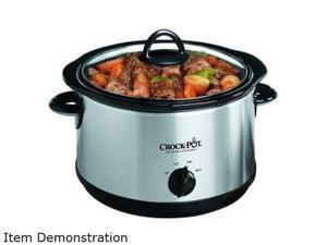 CROCK-POT SCR-500SS Stainless Steel 5-Quart Round Manual Stainless Steel Slow Cooker
