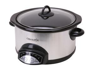 CROCK-POT SCRP500-SP Stainless Steel 5 Qt. 5 Qt. Programmable Slow Cooker