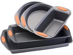 Rachael Ray 55673 Oven Lovin' Non-Stick 5-Piece Bakeware Set, Orange