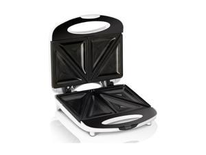 Continental Electric CE23831 Black & White 2-Slice Sandwich Maker