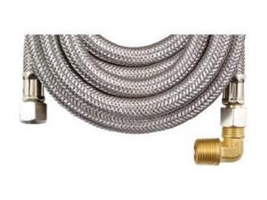 "Petra MK496B Braided Stainless Steel Dishwasher Connectors With Elbow (96"")"