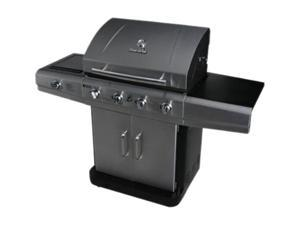 Char-Broil Stainless Four-burner Dual Fuel with Sideburner 463270311 2 Tone