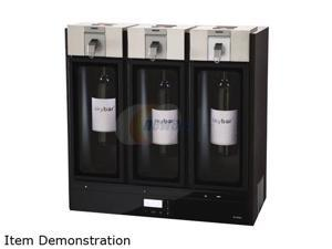 Skybar WP1100-000-000 Wine Preservation System- 3 Chamber (Black Wood Finish) Black