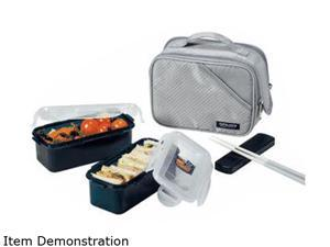 Lock&Lock HPL762DG Lunch Box Set w/Gray Double Zip Bag