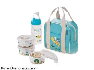 Lock&Lock SLB631S3B Silby Ceramic Baby Lunch Box Set, Blue
