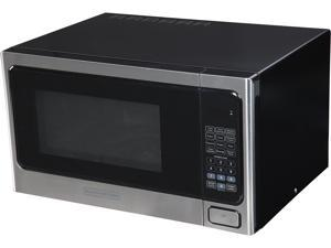 Black & Decker EM031MAB-X1 1.1 cu. ft. 1000W Microwave Oven, Stainless Steel/Black