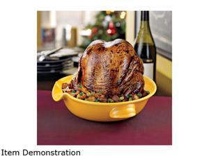 Wine Enthusiast 164 50 06 Wine Chicken Cooker Golden Yellow
