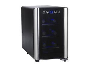 Wine Enthusiast 272 03 07 Silent 6 Bottle Touchscreen Wine Refrigerator Black