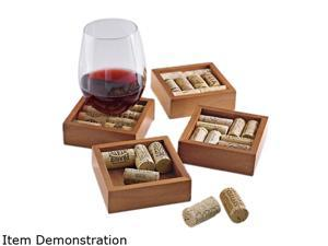 Wine Enthusiast 551 22 Approximately 8 wine corks are required to complete one Wine Cork Coaster. Wine Cork Coasters Kit ...