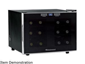 Wine Enthusiast 272 03 12 02 12-Bottle Silent Touchscreen Wine Refrigerator Black
