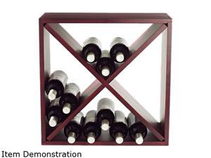 Wine Enthusiast 640 24 04 24-Bottle Cellar Cube Wine Rack Mahogany