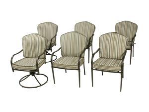 Rosewill Home HC-12-581-01-03 4 Heritage Dining Chairs and 2 Swivel Chairs