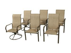 Rosewill Home HC-12-463-01-03 4 Pavano Dining Chairs and 2 Swivel Rockers