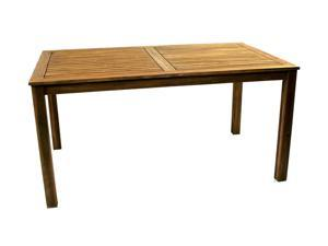 Ivena NE-IVN00448 Denver Rectangular Acacia Wood Patio Table