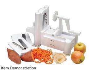 Paderno World Cuisine A4982799 White Spiral Vegetable Slicer