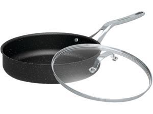 "Starfrit 060318-003-0000 The Rock 11"" Deep Fry Pan With Glass Lid"