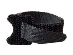 C2G 29858 12pk 6in Hook-and-Loop Cable Management Straps - Black