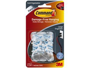 3M 17303CLR Clear Large Cord Clips w/Clear Strips