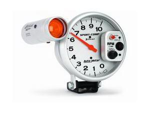 Auto Meter Sport-Comp Silver Shift-Lite Tachometer