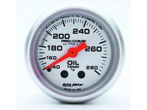 Auto Meter Ultra-Lite Mechanical Oil Temperature Gauge