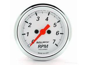 AutoMeter 1399 Arctic White Electric Tachometer