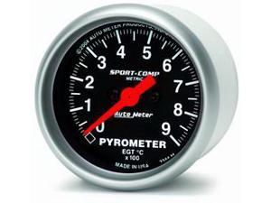 Auto Meter Sport-Comp Electric Pyrometer Gauge Kit