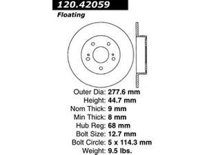 Power Slot 127.42059L Disc Brake Rotor - StopTech Sport X-Drilled and Slotted Ro