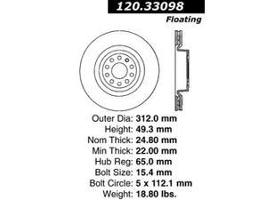 Centric-Power Slot 128.33098L Sportstop Drill Rotor