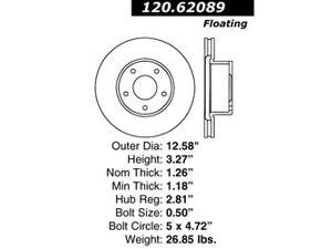 Centric-Power Slot 126.62089SL Brake Rotor