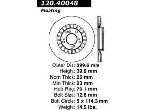 Centric-Power Slot 128.40048L Sportstop Drill Rotor