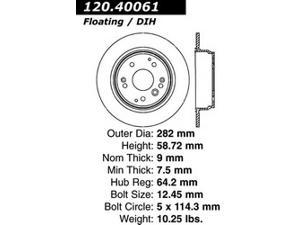 Power Slot 127.40061R Disc Brake Rotor - StopTech Sport X-Drilled and Slotted Ro