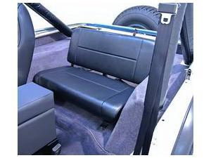 Rugged Ridge 13461.01 Fixed Rear Seat, Black, 55-95 Jeep CJ And Wrangler