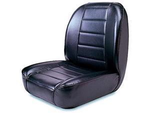 Rugged Ridge 13400.01 Low-Back Front Seat, Non-Recline, Black, 55-86 Jeep CJ Models
