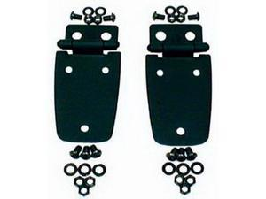 Rugged Ridge 11205.02 Hood Hinges, Black, 97-06 Jeep Wrangler