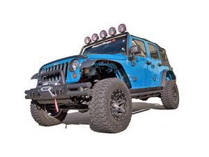 Rugged Ridge 11620.10 All Terrain Flat Fender Flare Kit, 07-14 Jeep Wrangler
