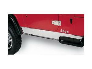 Rugged Ridge 11145.01 Rocker Panel Cover, Stainless Steel, 87-95 Jeep Wrangler YJ