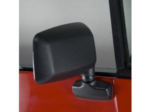 Rugged Ridge 11002.18 Door Mirror, Black, Right Side, 87-95 Jeep Wrangler YJ